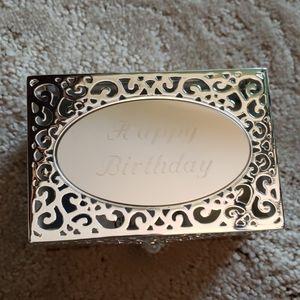 Jewelry Box- Things Remembered- Happy Birthday